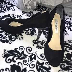 Black with bling Nina Heels